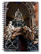 Tomb Of Pope Alexander Vii By Bernini Spiral Notebook
