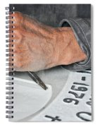 Tombstone Engraver At Work Spiral Notebook