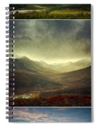 Tombstone Range Seasons Vertical Spiral Notebook