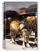 Tombstone Wagon Spiral Notebook