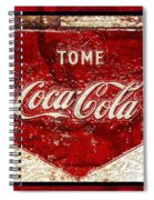 Tome Coca Cola Classic Vintage Rusty Sign Spiral Notebook