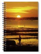 Tonle Sap Sunrise 01 Spiral Notebook