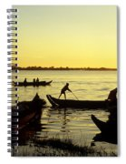 Tonle Sap Sunrise 05 Spiral Notebook