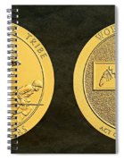 Tonto Apache Tribe Code Talkers Bronze Medal Art Spiral Notebook