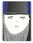 Top Hat And Beard Spiral Notebook