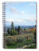 Top Of A Hill Town Spiral Notebook