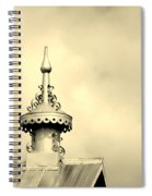 Top Of The Barn Tin Finial Spiral Notebook
