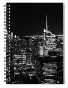 Top Of The Rock In Black And White Spiral Notebook