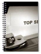 Top Secret Document In Armored Briefcase Spiral Notebook