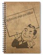 Top Ten Reasons People Procrastinate Pun Humor Motivational Poster Spiral Notebook