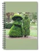 Topiary Couple Spiral Notebook