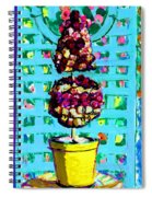 Topiary Of Dried Roses Spiral Notebook