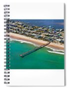 Topsail Island Aerial Panels Spiral Notebook