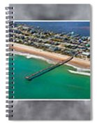 Topsail Island Aerial Panels II Spiral Notebook
