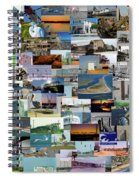 Topsail Island Nc Collage  Spiral Notebook