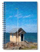 Torekov Beach Hut Painting Spiral Notebook