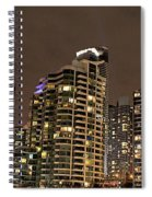 Toronto Condos On A Cold Winter Night Spiral Notebook