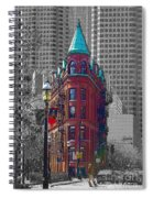 Toronto Flat Iron Building Version 2 Spiral Notebook