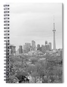 Toronto In Black And White Spiral Notebook