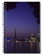 Toronto Skyline At Night Spiral Notebook