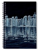 Toronto Skyline In Blue Spiral Notebook
