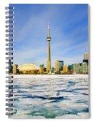 Toronto Skyline In Winter Spiral Notebook