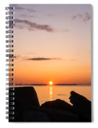 Toronto Skyline Panorama At Sunrise Spiral Notebook