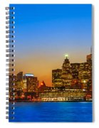 Toronto Skyline Panorama Spiral Notebook