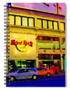 Toronto Street Scene Night Scapes Hard Rock Cafe Downtown Drive By City Lights Canadian Art Cspandau Spiral Notebook