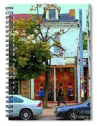 Toronto Stroll Past Fashion Stores Downtown Early Autumn Urban City Scenes Canadian Art C Spandau Spiral Notebook