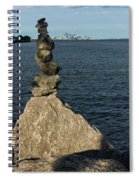 Toronto's Cn Tower Sculpted From Natural Stones Spiral Notebook