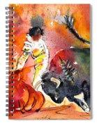 Bullfighting The Reds Spiral Notebook