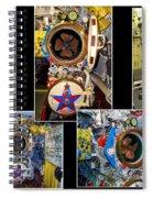 Torpedo Tubes Collage Russian Submarine Spiral Notebook