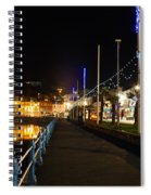 Torquay Victoria Parade At Night Spiral Notebook