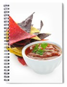 Tortilla Chips And Salsa Spiral Notebook