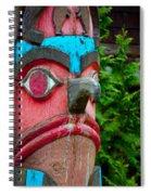 Totem Face Spiral Notebook