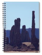 Totem Pole In Monument Valley Spiral Notebook