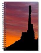 Totem Pole Sunrise Spiral Notebook