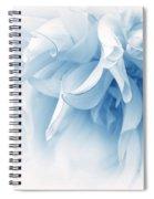 Touch Of Blue Dahlia Flower Spiral Notebook