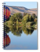 Touchdown On The Yakima River Spiral Notebook