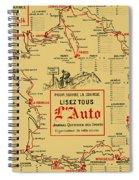 Tour De France 1914 Spiral Notebook