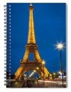 Tour Eiffel De Nuit Spiral Notebook