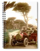Royal Tourist Touring Car On The 17 Mile Drive Pebble Beach California Circa 1910 Spiral Notebook