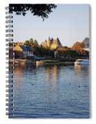 Touring On The World Showcase Lagoon Walt Disney World Spiral Notebook