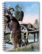 Tourist Feeding Bear Yellowstone Np Spiral Notebook
