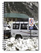 Tourist Vehicles Parked At The No Parking Sign In Sonmarg Spiral Notebook