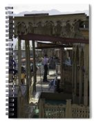Tourists At The Front Section Of Houseboats Lined Up Along Dal Lake Spiral Notebook
