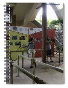 Tourists In A Queue At One Of The Exhibits Inside The Jurong Bird Park Spiral Notebook