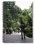 Tourists Inside A Downward Sloping Section In The Orchid Garden Spiral Notebook