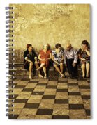 Tourists On Bench - Taormina - Sicily Spiral Notebook